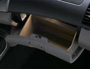 Illuminated glove box